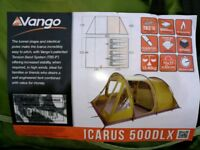Vango ICARUS 500 DELUXE with deluxe awning and footprint