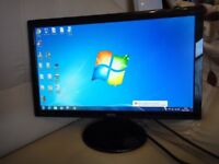 """22"""" Widescreen LED Monitor in Good Condition."""