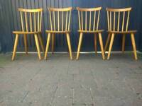Vintage Retro Mid Century Danish Ercol Style Dining Chairs