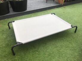 Dog bed hammock large grey and black