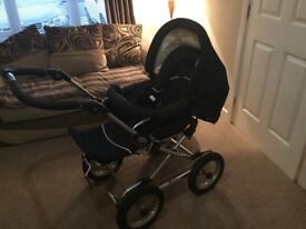 Emmaljunga 2 in 1 pram and pushchair. Immaculate condition. £250 Ono