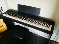 Yamaha P115 Digital Piano with L85 Stand, Bench, Sustain Pedal and Dust Cover