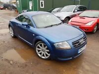 Audi TT 1.8 T Quattro 3dr., FSH. HPI CLEAR. LONG MOT. CONVERTIBLE. P/X WELCOME