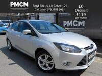 FORD FOCUS 2011 1.6 ZETEC 125 - F.S.H - 2 KEYS - LONG MOT - HATCHBACK - astra golf megane 2011