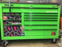 """Snap-On Classic 55"""" Tool Box in Lime Green"""