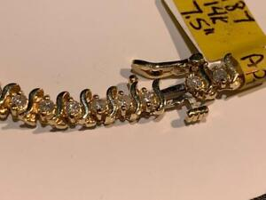 #187 14K YELLOW GOLD TENNIS BRACELET *7.5 IN LENGTH* 2.05 CTW APPRAISED @ $4950, SELLING FOR $1695!