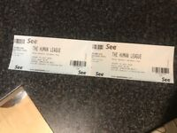 2 x general admission tickets for The Human League at the Royal Botanic Gardins in Kew, London.