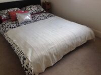 Shabby Chic Cream Throw for bedroom or lounge