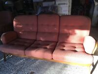 Ercol three seater sofa and matching armchair