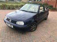 VOLKSWAGEN GOLF 1.6 AUTOMATIC CONVERTIBLE 2 LADY OWNERS