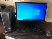 "New HP Desktop, Intel Celeron, 8Gb RAM, 240Gb SSD, 22"" Monitor, Windows 10"