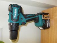 Makita cordless drill combi hammer 18v brushless + 5.ah 90wh battery