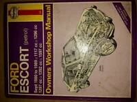 Haynes Manual FORD ESCORT