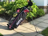Junior Golf clubs + Hippo Bag