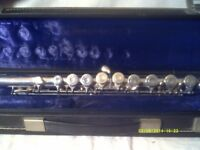 THE EMPEROR FLUTE by BOOSEY & HAWKES made at EDGEWARE , LONDON IN AS NEW CONDITION