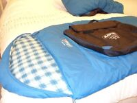 Pair of Sleeping Bags with storage/carry holdall
