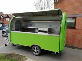 Mobile Catering Trailer Burger Van Pizza Trailer Hot Dog Ice Cream Cart 3400x1650x2300