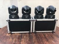 4 moving heads with cases £750 or nearest offer