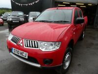 2010 60 MITSUBISHI L200 4WORK , ONLY 58000 MILES , RED DOUBLE PLUS VAT FREE Nationwide Delivery