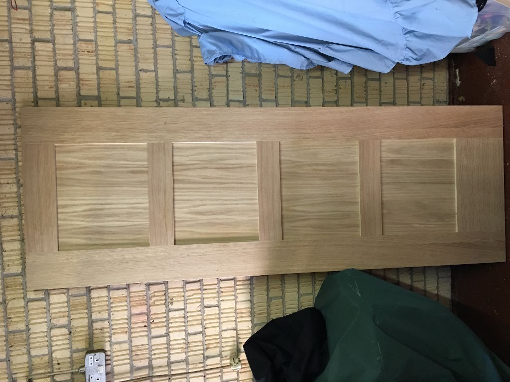 Internal Door Wickes Marlow Oak Veneer 4 Panel 1981x686mm