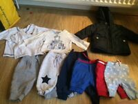 Baby boy bundle newborn 0-3 vests sleepsuits jacket hats trousers pajamas etc