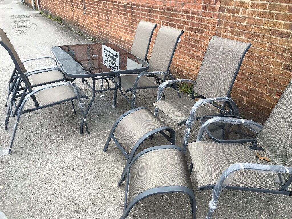 Andorra Bronze Metal 10 Piece Garden Furniture Set In