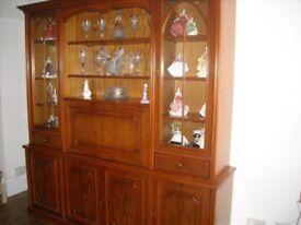 Display Cabinet Yew Wood