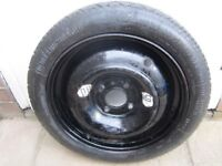 """PEUGEOT 206 / FORD 15"""" SPACE SAVER SPARE WHEEL AND NEW TYRE CONTINENTAL NEVER BEEN USED, BRISTOL BS9"""