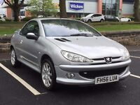2007 PEUGEOT 206 CC CONVERTIBLE 1.6 * LOW MILEAGE * SERVICE HISTORY * PX WELCOME * DELIVERY