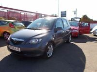 *MAZDA 2 1.4*MEGA LOW MILEAGE*IMMACULATE CONDITION*FULL YEARS MOT**FREE!! ROAD TAX***ALLOYS WHEELS*