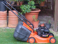Flymo Electolux LC 400 push lawn mower with Briggs and Stratton petrol engine