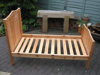 CHILDS SINGLE PINE BED FRAME WITH LARGE UNDERNEATH DRAW STORAGE