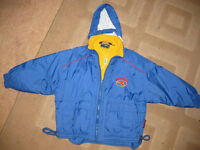 CHILDS DIADORA RAINCOAT (age 4-5) + FUN FREE BOOKS ALL IMMACULATE - BARGAIN! Padded & waterproof