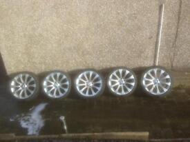 BMW alloys x5 with tyres