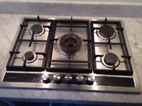 Gas hob - 5-ring in good condition and full working order, 18 mths old, Siemens EC745RC90E £469 new