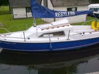 Sailing boat, Proctor Prelude 19 foot, complete with 5HP Honda outboard