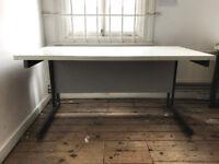 5 x white office desks