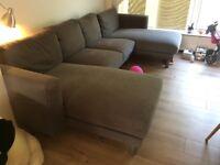 Large dark grey sofa