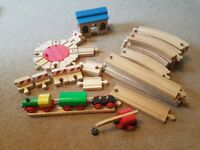 Wooden Train Track.