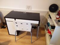 Micke Workstation with magnetic panel and Jules Chair