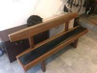 Wooden antique church pew in great condition