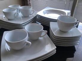 White dinner set LUMINARC