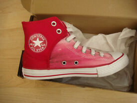 CONVERSE HIGH TOPS TRAINERS-SIZE 2 AS NEW