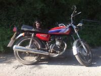 Honda CG 125cc CDI starts and runs well, new chain and sprocket. Exellent first bike