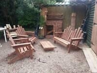 Rustic garden set