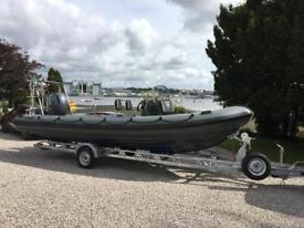 Dive boat. XS 700 deluxe rib.