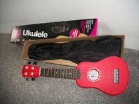 childs ukulele bright red ideal for boy or girl