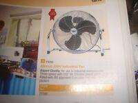 """Chrome 450mm / 18"""" approx floor fan"""