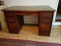 Antique bankers desk