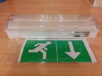 Emergency lights escape lighting LED exit boxes